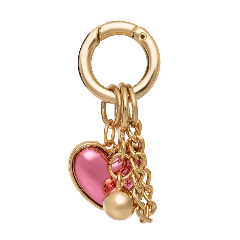 Pingente Proteção Coração Rosa   - Feminino