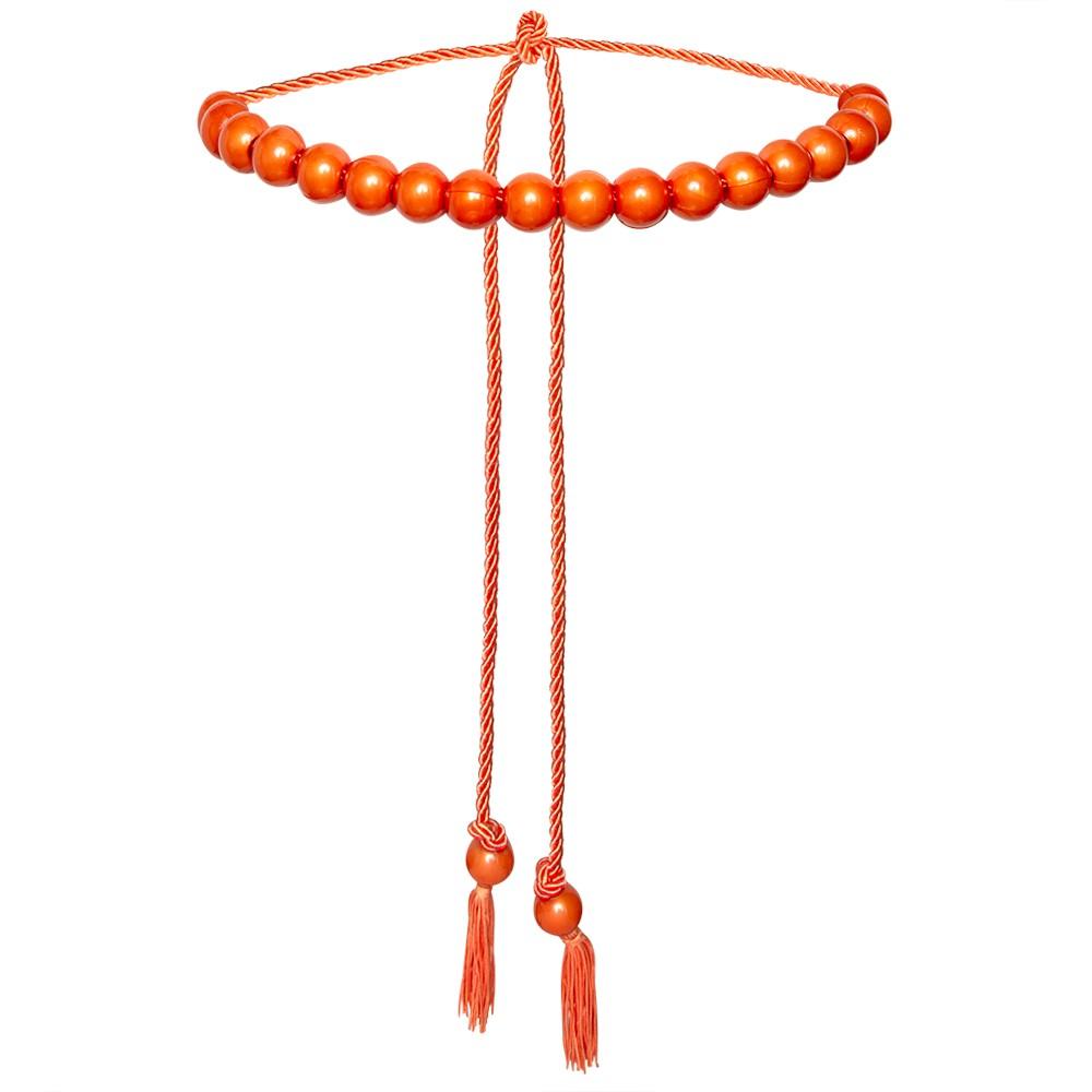 Tendência - Edição Limitada - Cinto Corda Laranja   - 3 cm -Cintos Exclusivos - Feminino