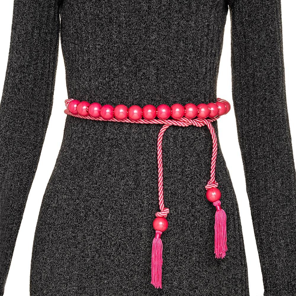 Tendência - Edição Limitada - Cinto Corda Rosa Pink  - 3 cm -Cintos Exclusivos - Feminino