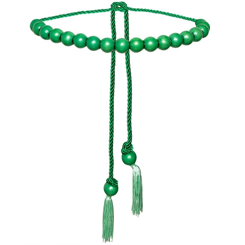 Tendência - Edição Limitada - Cinto Corda Verde  - 3 cm -Cintos Exclusivos - Feminino