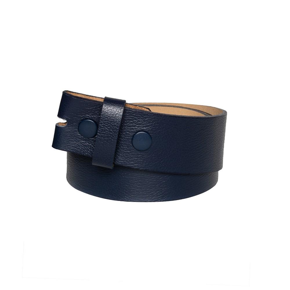 Tira para Cinto de Couro Azul Marinho - 4cm - Cintos Exclusivos - Feminino