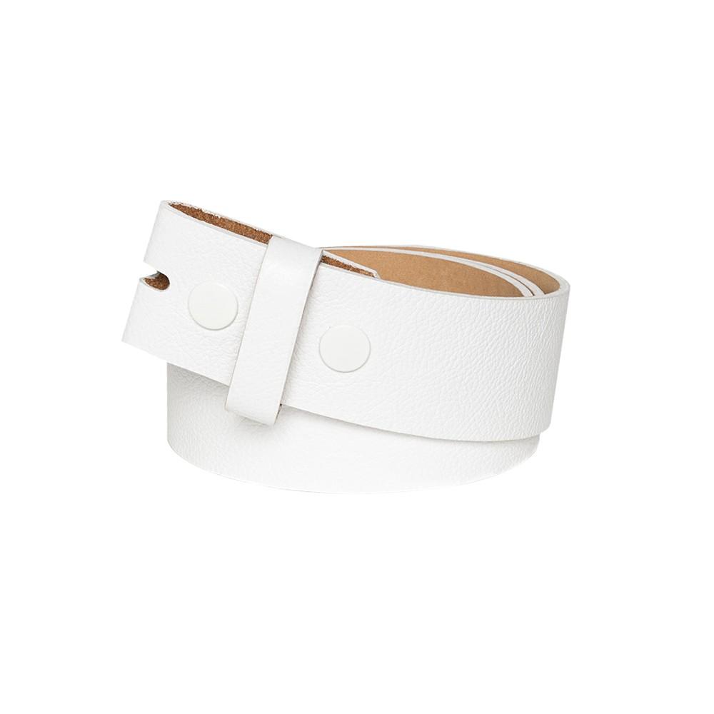 Tira para Cinto de Couro Branco - 4cm - Cintos Exclusivos - Feminino