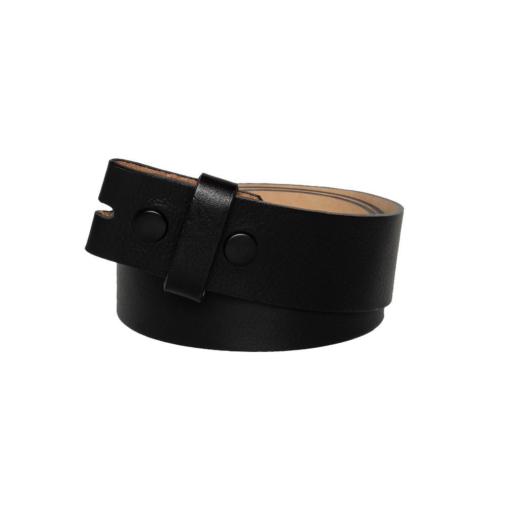 Tira para Cinto de Couro Preto - 4cm - Cintos Exclusivos - Feminino