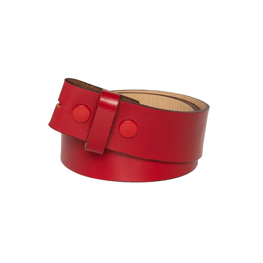 Tira para Cinto de Couro Vermelho - 4cm - Cintos Exclusivos - Feminino