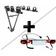 Transbike Para Engate Para 3 Bicicletas + Sinalizador Porta-Placa