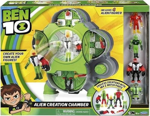 Ben 10 - Camara De Criação Alien - 4 Bonecos Alien