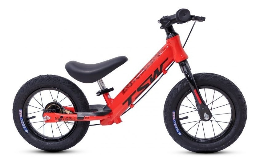 Bicicleta Infantil Sem Pedal Equilíbrio Aro 12 Alumínio Tsw