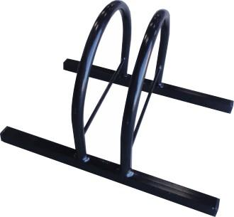 Bicicletário p/ Chão p/ 1 Bike - Suporte de Bicicletas - Expositor Metal Lini