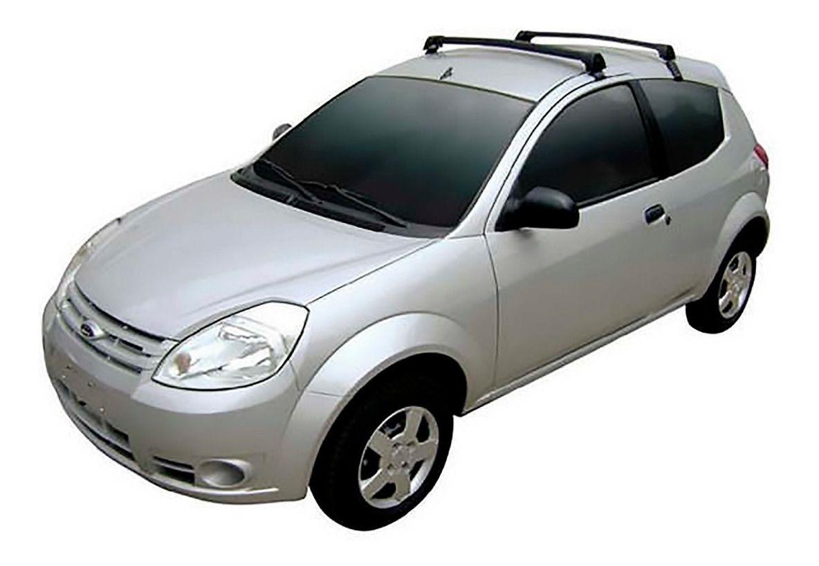 Rack De Teto Em Alumínio Para Ford Ka 2009 A 2014 - Preto