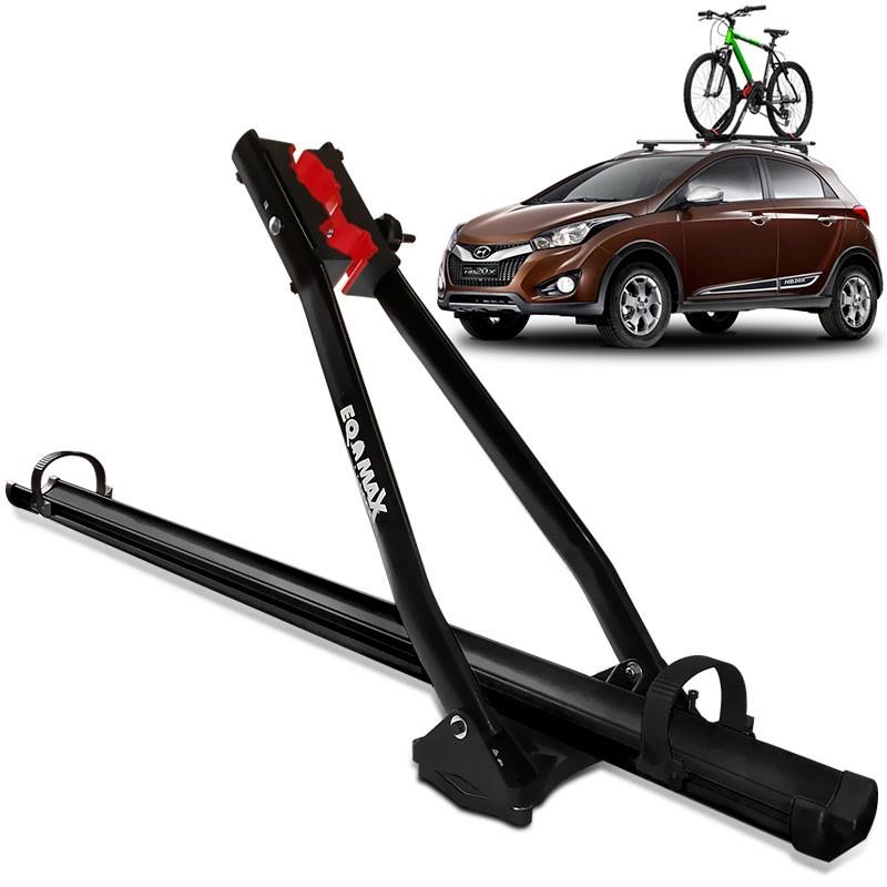 Rack Transbike De Teto Eqmax Aluminium Preto Para 1 Bicicleta