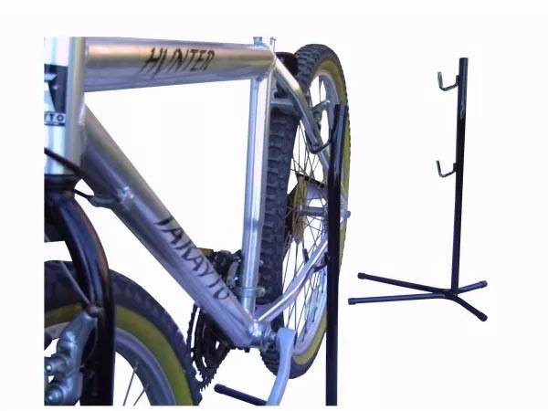 Bicicletário de Chão Pé De Galinha Expositor Limpeza Para 1 Bicicleta
