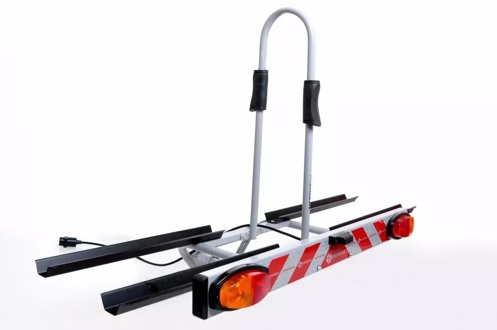 Transbike Para Engate e Sinalizador AL-242 Altmayer Plataforma Para 2 Bicicletas