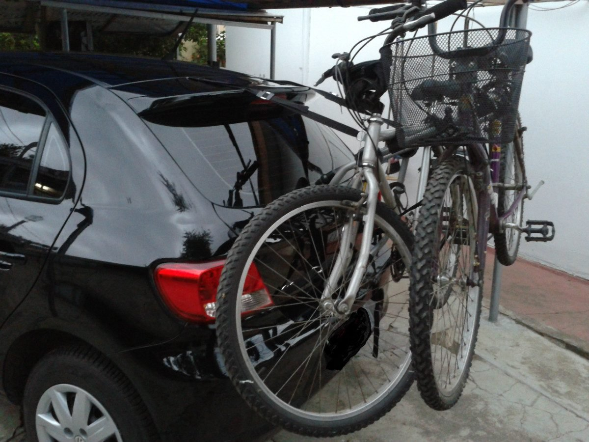 Transbike Para Porta Malas Para 02 Bicicletas