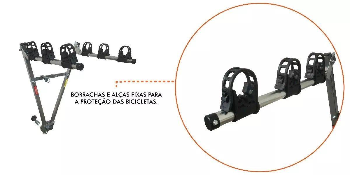 Transbike Para Engate Tipo Bola True Para 3 Bicicletas de Aro 29