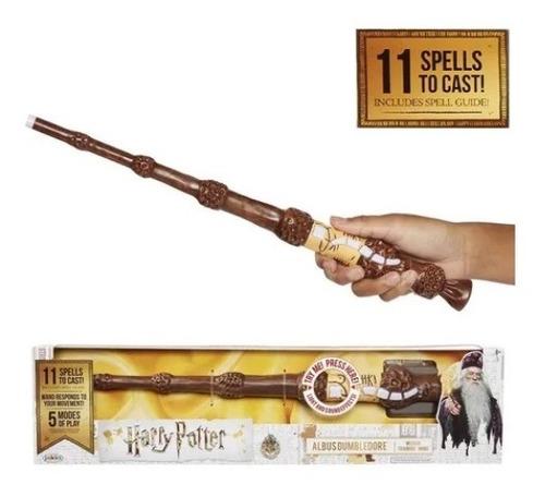Varinha Mágica Harry Potter 11 Feitiços Luz E Som Dumbledore