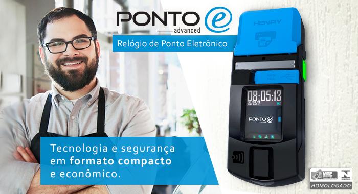 Relógio de Ponto Móvel Ponto E Advanced - InovaPonto - Relógio de ...
