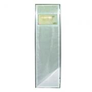 Porta Aço inox  0,57 x 1,90 m estrutura em Aluminio chapa em aço inox c/ Batente