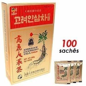 Korean Ginseng Tea Gold Chá Coreano 100 Unid Original