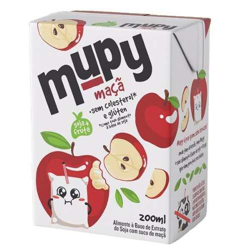 40 Mupy Soja Morango Abacaxi Uva Maçã Maracujá 200ml Não Gmo