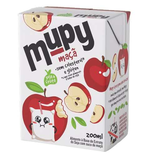 40 Mupy Soja Morango Abacaxi Tangerina Maçã 200ml (não Gmo)