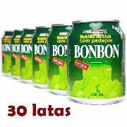 30 Sucos De Uva Verde Coreano  com Pedaços Bonbon 235ml
