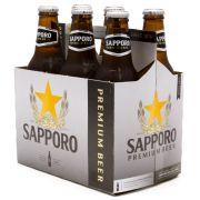 6 Cerveja Sapporo Premium Claro 330ml
