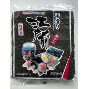 Alga marinha Yakinori Para Sushi Temaki Edomae 10 folhas