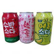 Combo Sucos Coreanos Cereja Melancia e Melon Soda