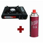 Fogão Portátil Fire Acendimento Autom. + Gás (brinde)