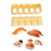 Forma para Sushi Niguiri com 5 compartimentos