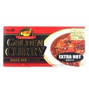 S&B Golden Curry Ookara Extra Hot 220g (Extra Forte)