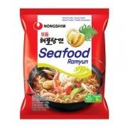 Macarrão Lamen Coreano Seafood Ramyun Frutos do Mar 100g NONGSHIM