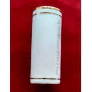 Porta Incenso Tubo Branco - Detalhe em Ouro PO-74