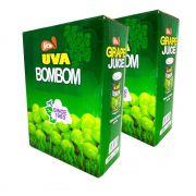 Suco BOMBOM Com Uva Verde Inteira - 02 Caixas 24 Unidades