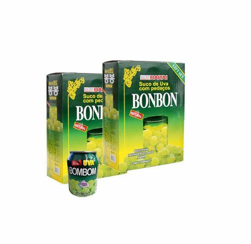 Suco Bonbon Com Uva Verde Inteira - 02 Caixas 24 Unidades