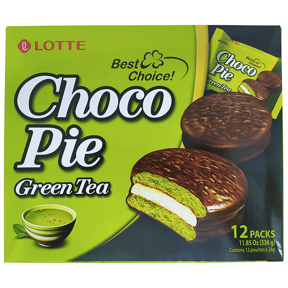 Alfajor de Chocolate Chá Verde 12pc 336g Lotte