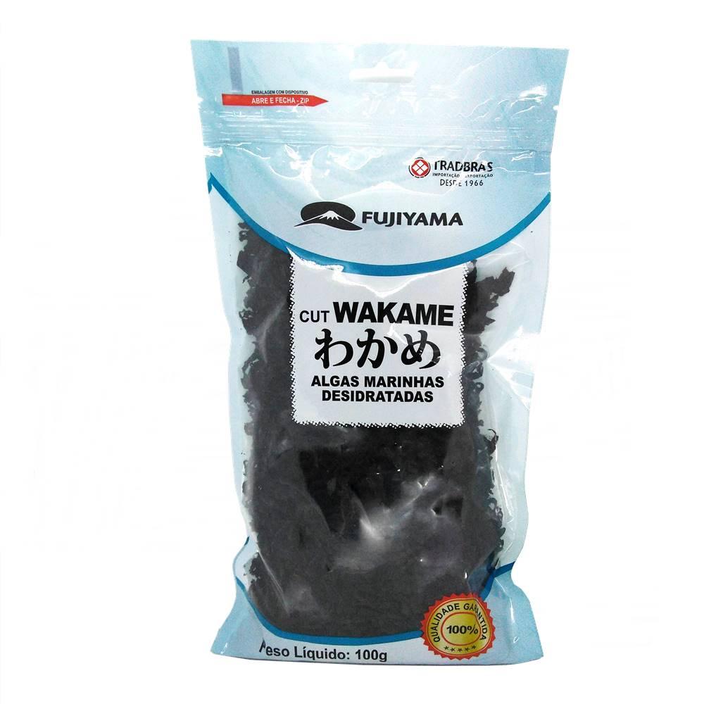 Alga Marinha Desidratada Cut Wakame 100g - Fujiyama