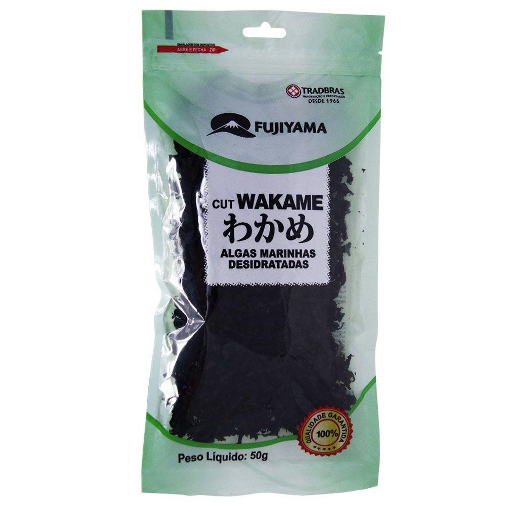 Alga Marinha Desidratada Cut Wakame 50g Fujiyama