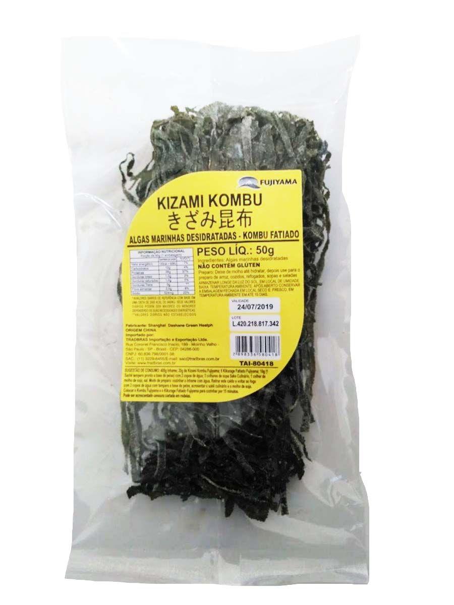 Alga Marinha Kombu Fatiado 50g - Kizami Kombu