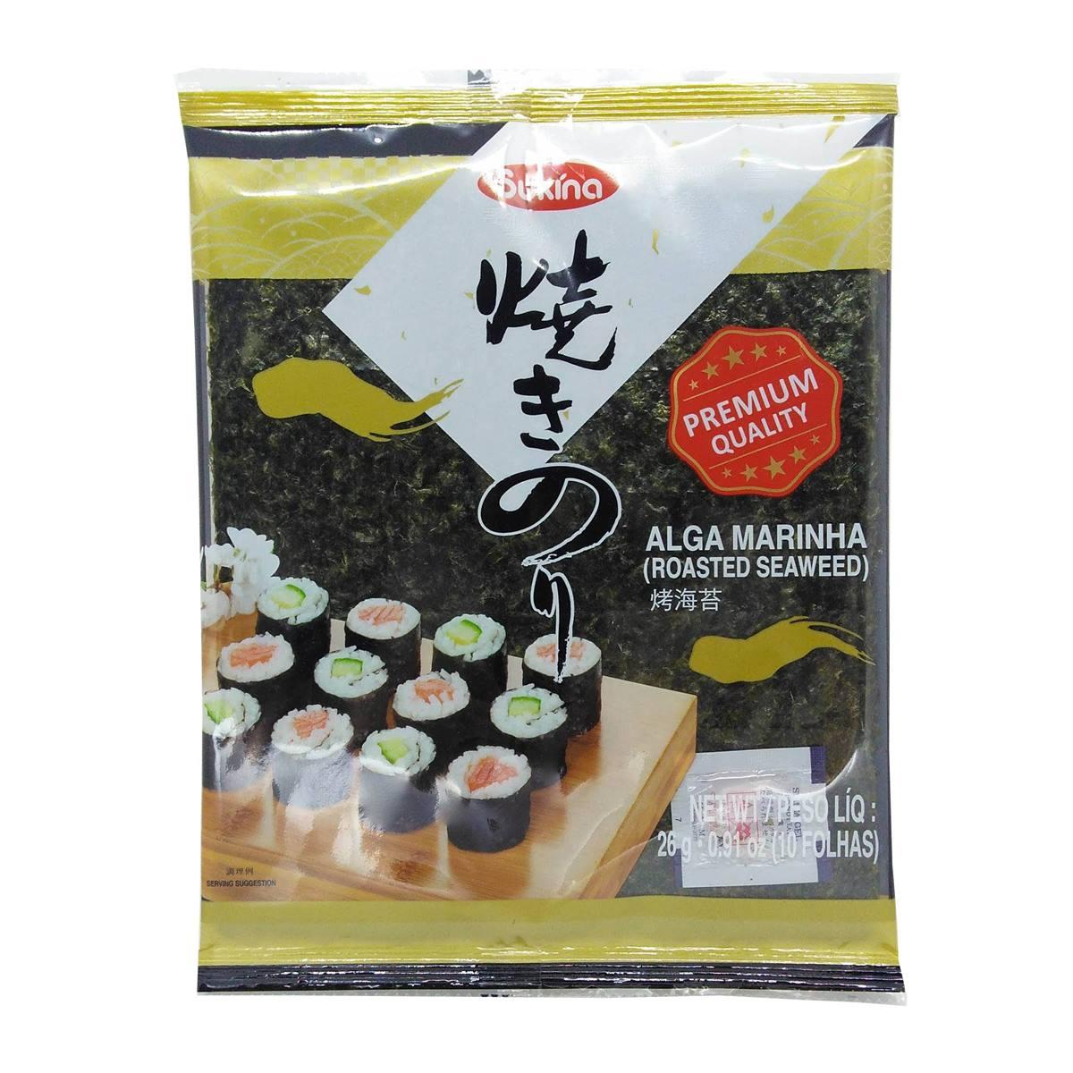 Alga Marinha p/ Sushi Yakinori 26g 10 fls Sukina Gold