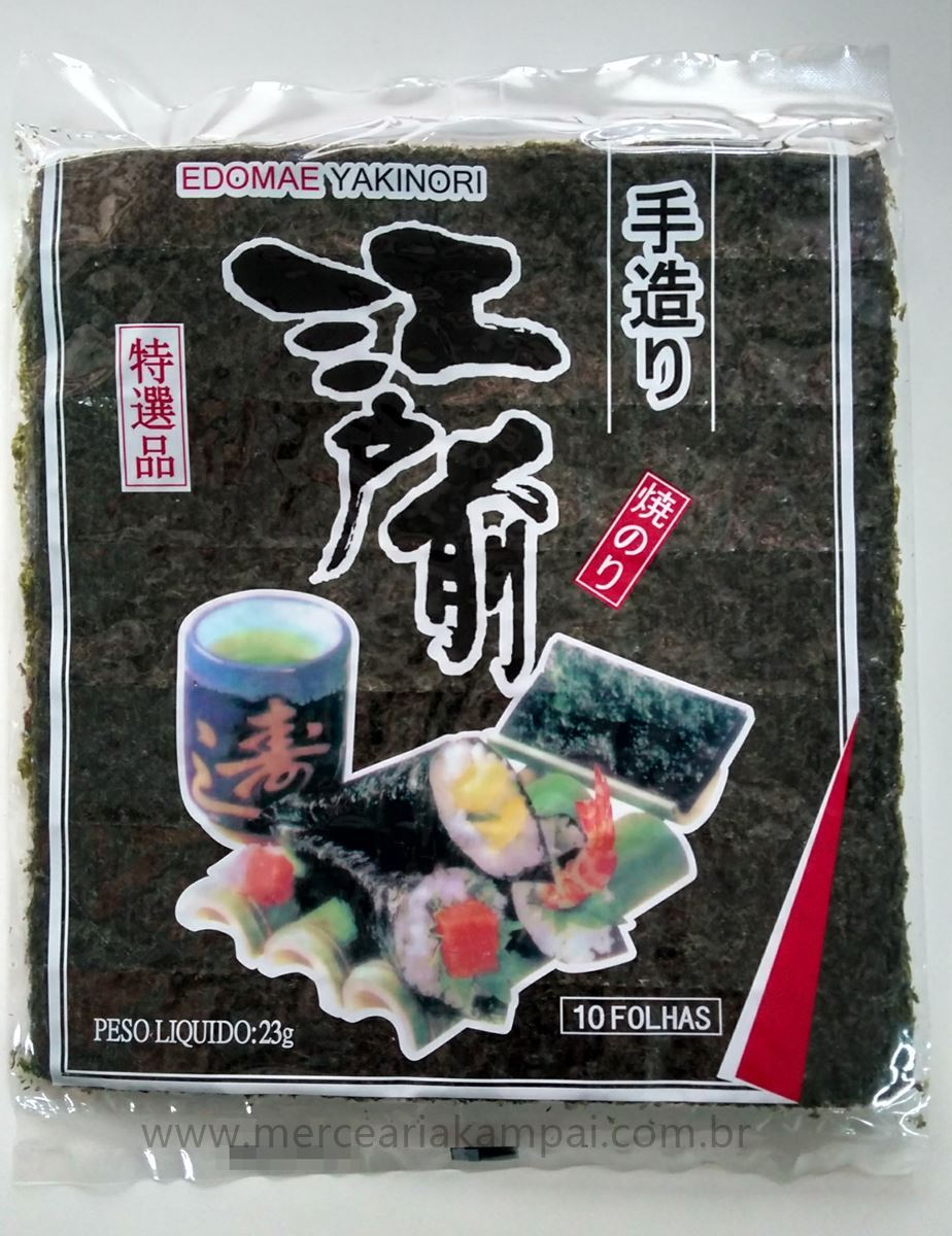 Alga p/ Sushi e Temaki 10 Folhas Yaki nori - Edomae