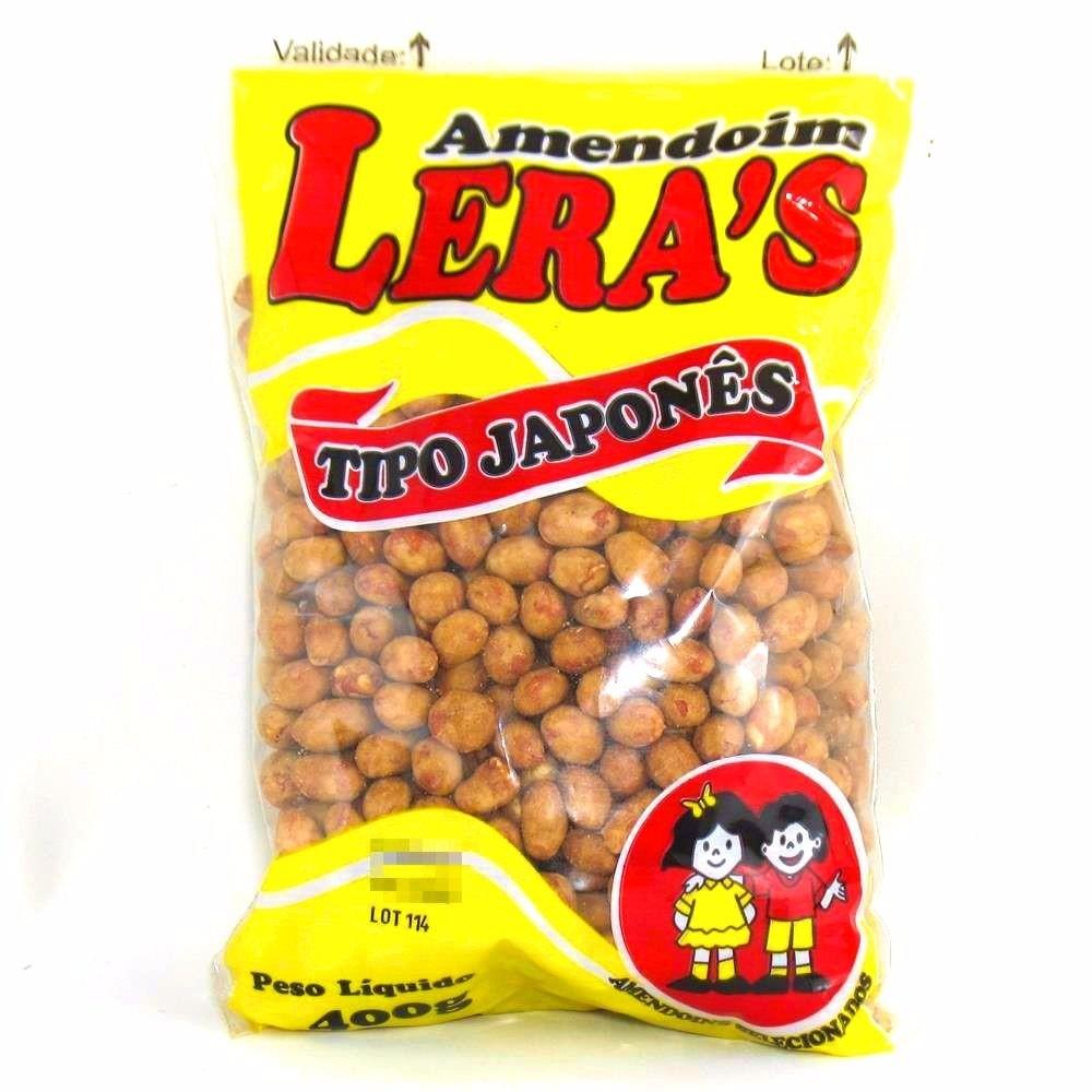 Amendoim Aperitivo Tipo Japonês Leras 400g  (macio)