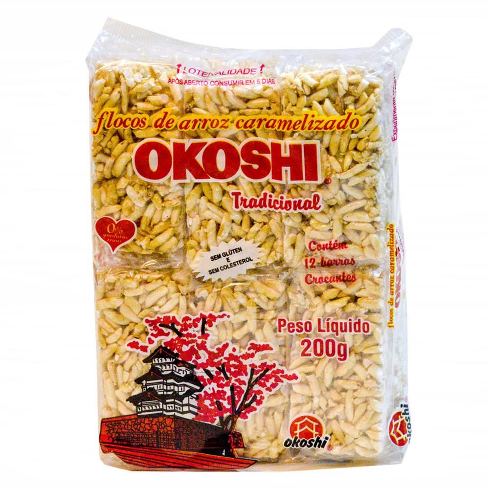 Arroz Caramelizado Okoshi Tradicional 200g - Hikage