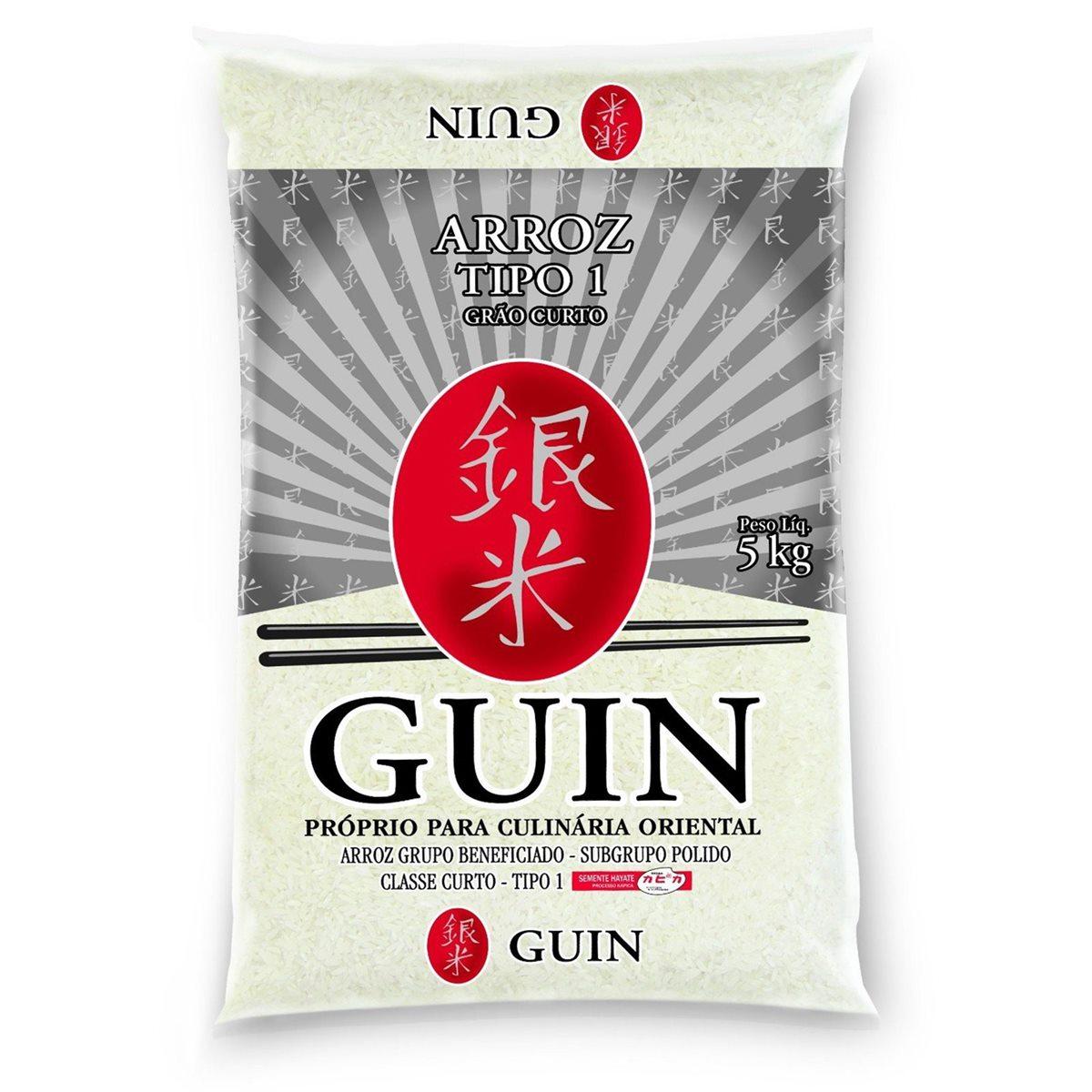 Arroz Japonês Guin Grão Curto  5kg