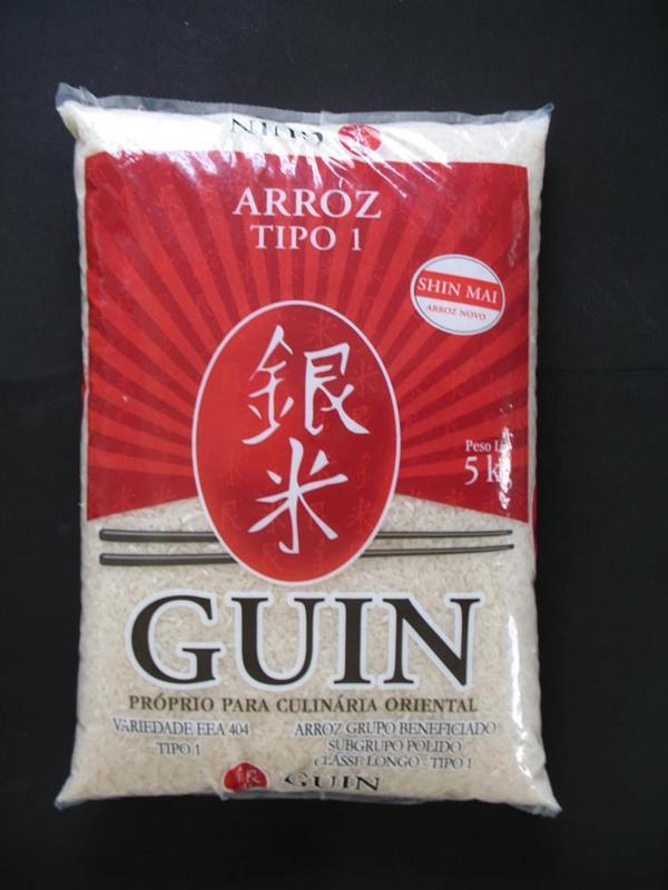 Arroz Japonês Grão Longo 5kg - Guin