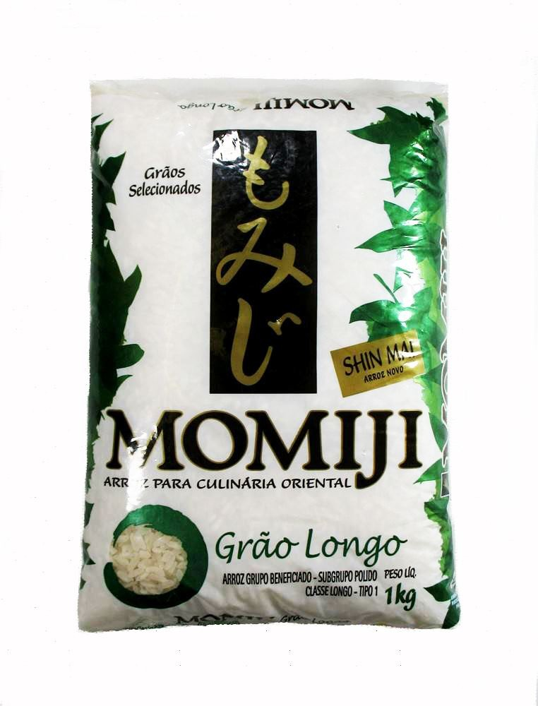Arroz japonês Grão Longo Verde 1kg - Momiji