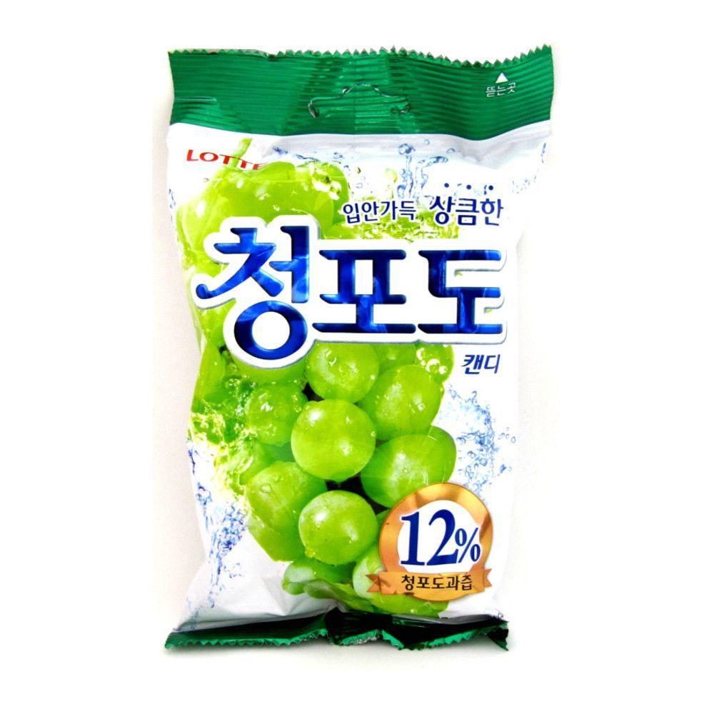 Bala Coreana de Uva Verde 127,5g