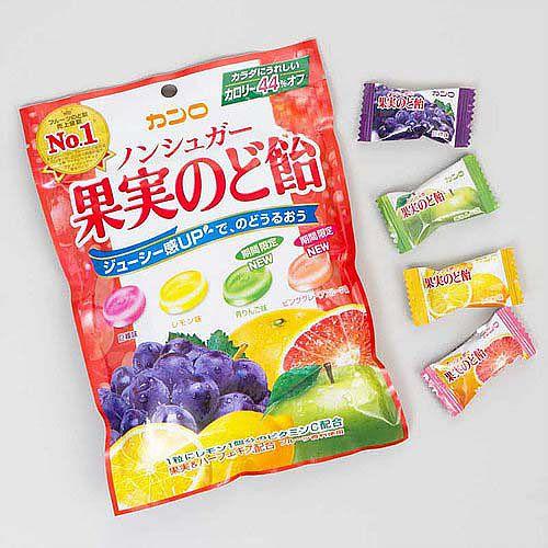 Bala de Frutas Sortidas Sem Açúcar 86g - Kanro