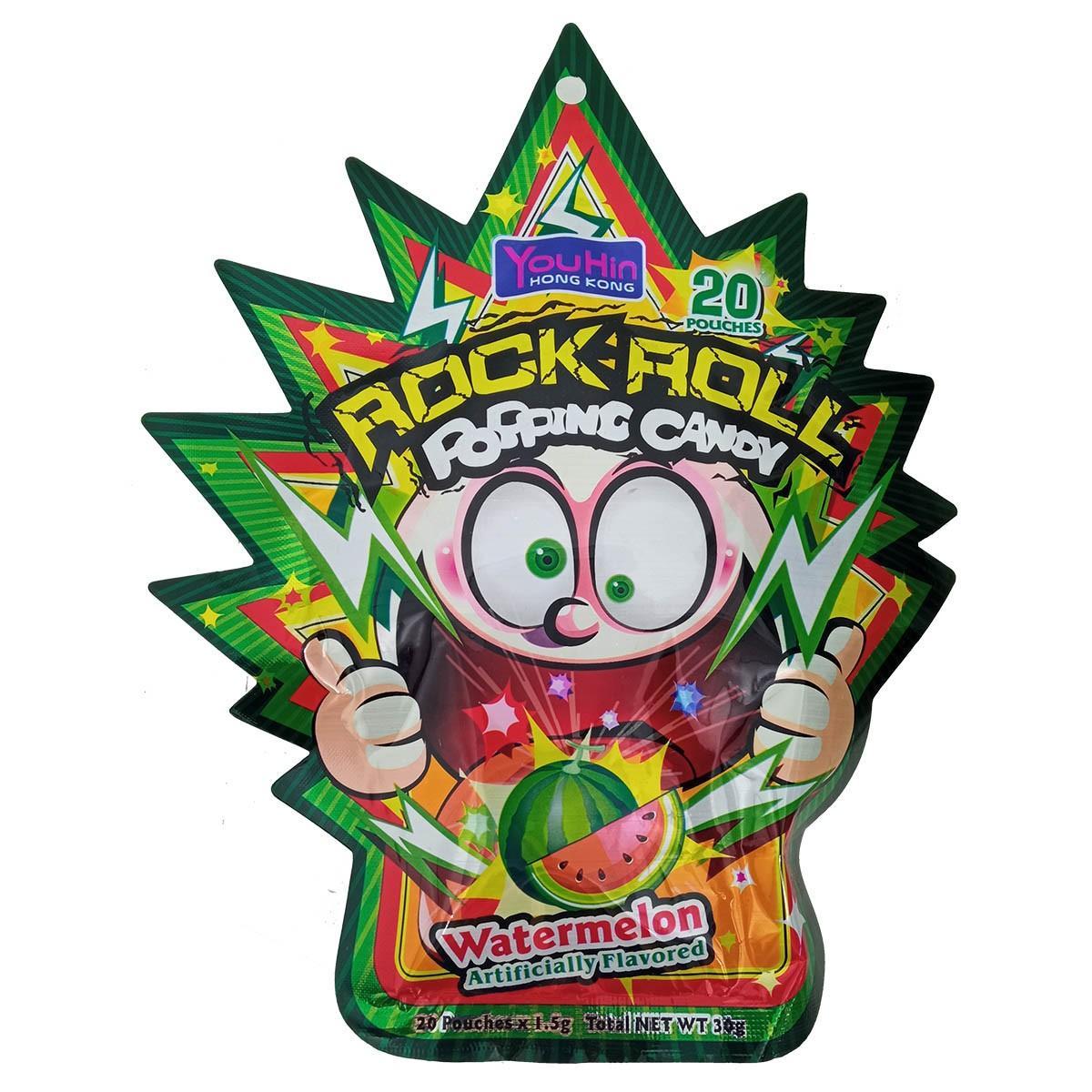Bala Explosiva sabor Melancia Rock Roll Popping Candy 30g - YouHin HK