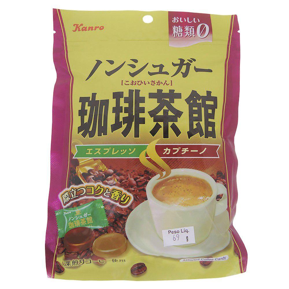 Bala de Café Expresso E Cappuccino Sem Açúcar 69g - Kanro